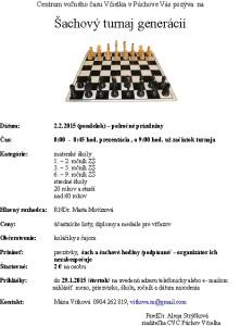 Pozvánka na šachový turnaj